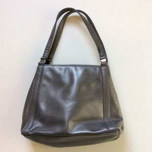 TIGNANELLO Vintage Leather Gunmetal Hand Bag